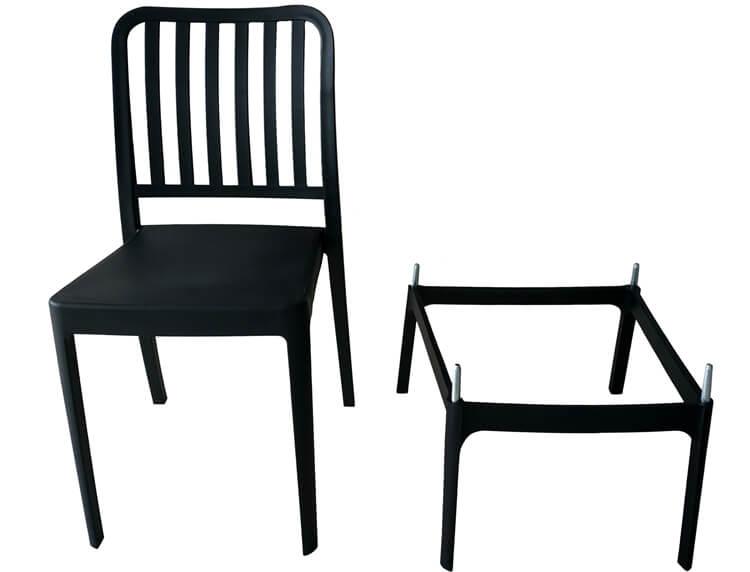 white plastic modern chairs