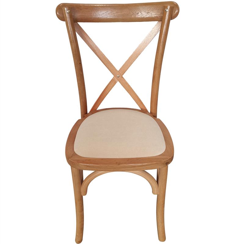 wood crossback chair supplier