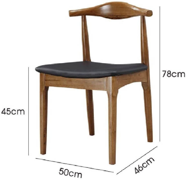 wooden cane back dining chair
