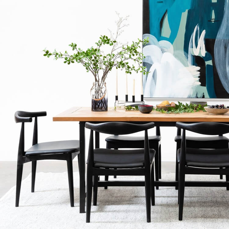 wooden cane dining chair supplier