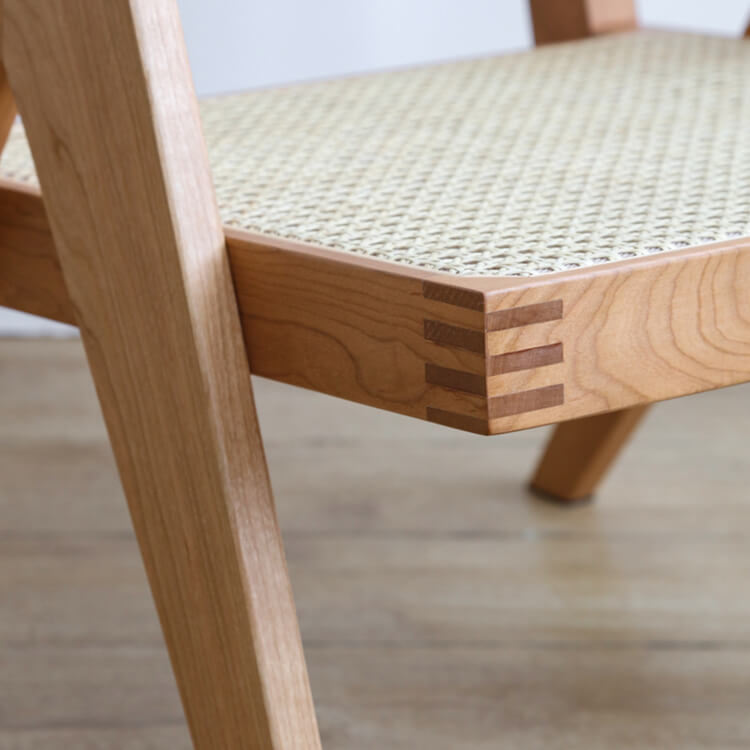 wooden cane dining chair