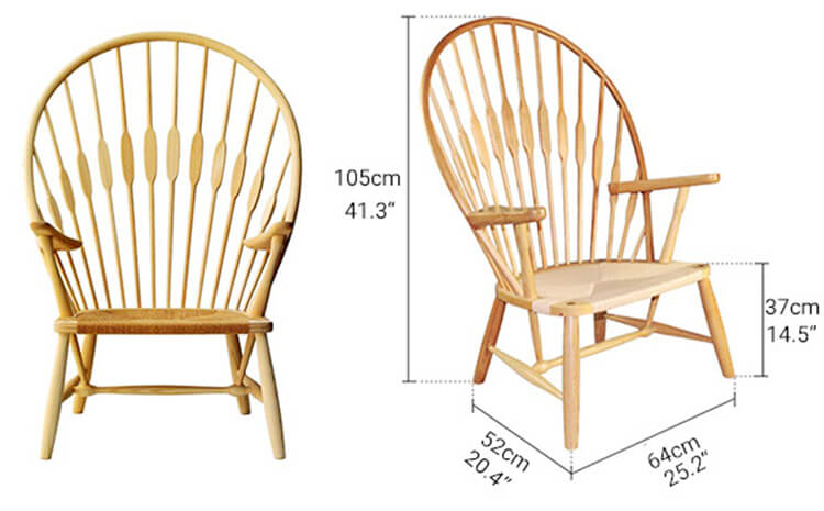 wooden peacock chair factory
